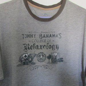 Tommy Bahama's grey graphic tee shirt sz xl